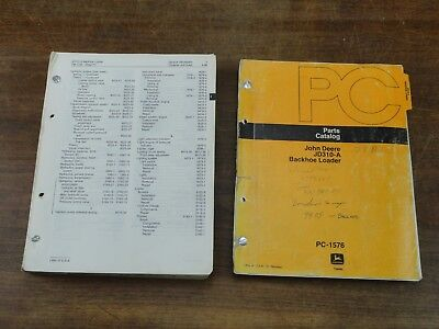 Oem John Deere 310 A Backhoe Parts Catalog Technical Service Repair Manual Set