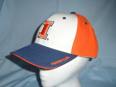 ILLINOIS FIGHTING ILLINI adjustable style CAP/HAT Team Pride OSFA Fits All  (Illinois Fighting Illini Cap)