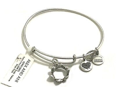 Alex and Ani Queen's Crown Charm Bangle Rafaelian Silver Bracelet -NEW WITH TAG
