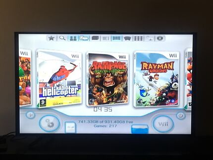 1TB HDD with over 200 wii games