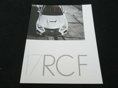 2017 Lexus RCF Brochure RC-F GT3 Perform. Sport Model, RWD V8 5.0 Sales Catalog