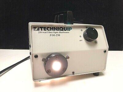 Techniquip 250 Watt Fiber Optic Microscope Illuminator Light Source Foi-250