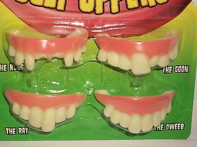 Halloween Costume Fake Teeth Dentures Buck Gap Chipped Goon Dweeb Rat Uppers