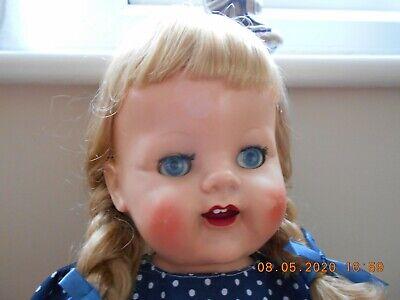Vintage 1950s Pedigree 22 in Hard Plastic Walker Doll  FAB