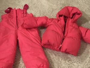 GAP toddler 4 hot pink snow suit