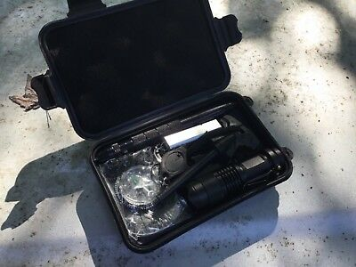 Survival Kit, Survival Gear, Hunting, Camping, in rainproof case.NEW and AWESOME