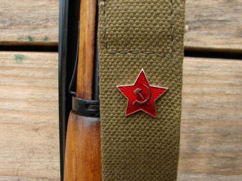 Russian Soviet Badge Cockade Mosin Nagant AK47 SKS Red Star Enamel Pin USSR CCCP