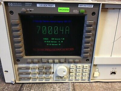 Hp 70004a Display Mainframe Spectrum Analyzer Keypad.