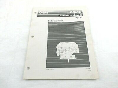Onan Engine Performer Series P248v Operators Manual 965-0172