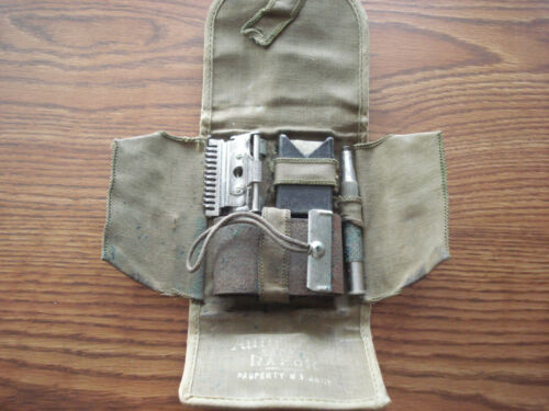 "ORIGINAL WW-1 U.S. ARMY ""AUTO STROP"" SHAVING KIT,  COMPLETE,   1-13"