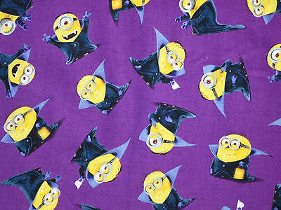 FAT QUARTER MINIONS HALLOWEEN VAMPIRE TRICK OR TREAT  COTTON FABRIC QUILTING  FQ](Halloween Minions)