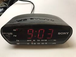 Sony Dream Machine Alarm Clock-AM/FM Radio-Backup Power-Antenna-ICF-C211-FREE SH