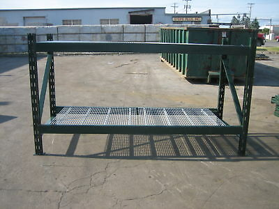 4 Section Ridgurak Pallet Rack 32 L X 5t X 40 Deep5 Uprights16 Beams16 Wire