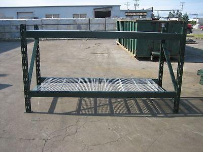 4 Section Ridgurak Pallet Rack 32 L X 5t X 40 Deep5 Uprights16 Beams16 Wire