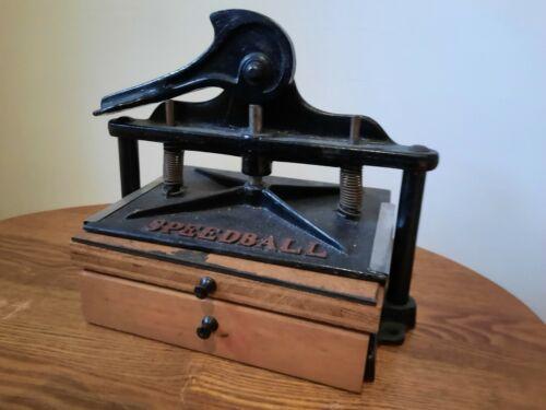 Antique Cast Iron Speedball Model A Relief Printing Press Black