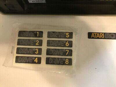 810 DISK DRIVE NUMBER LABELS 2 Sets NEW Atari Parts