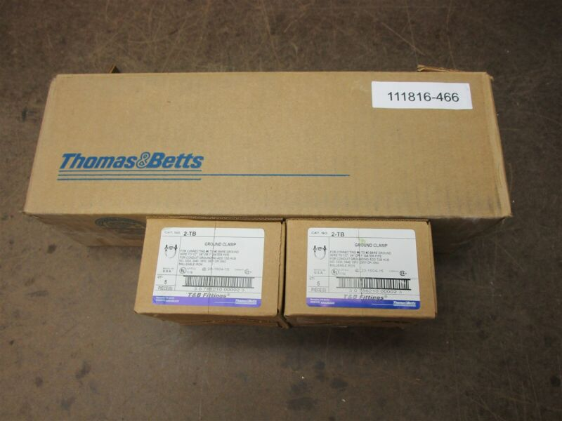 """Thomas and Betts 2-TB water pipe Ground clamps 1/2"""" , 3/4"""" or 1"""" lot of 8. New"""