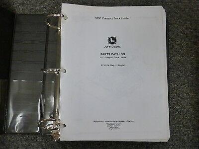 John Deere Model 323d Compact Track Loader Parts Catalog Manual Book Pc10136