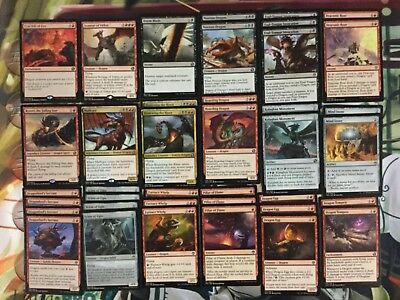 Dragon Custom Deck Black Red- MTG Magic Gathering - Ready To Play Rares ()