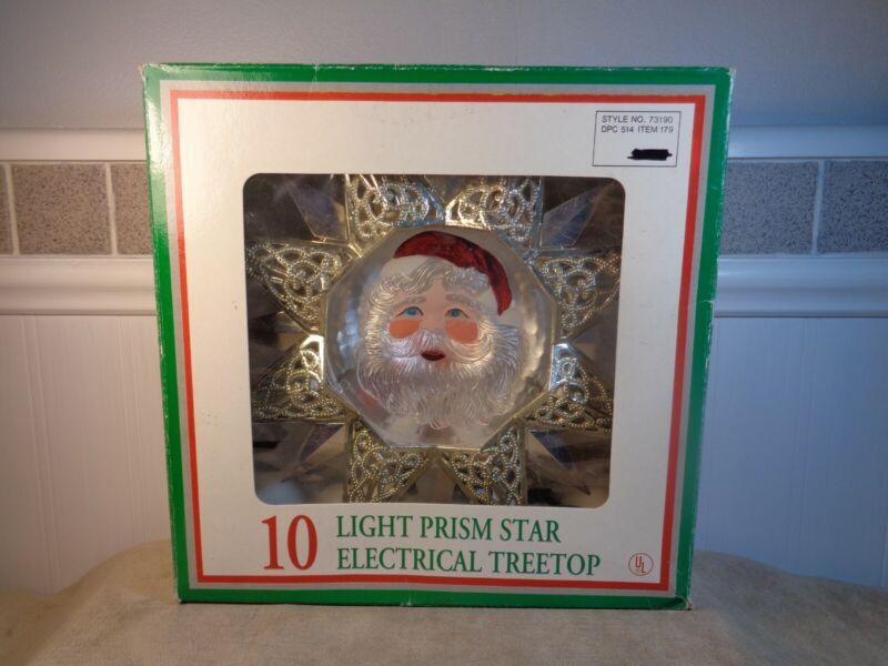 1994 VINTAGE 10 LIGHT PRISM STAR ELECTRICAL TREE TOPPER (CB1314)