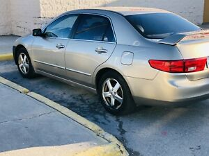 2005 Honda accord ex-l beige leather seats