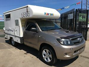 2007 Toyota hilux Turbo Diesel talvor with Slide on camper Ravenhall Melton Area Preview