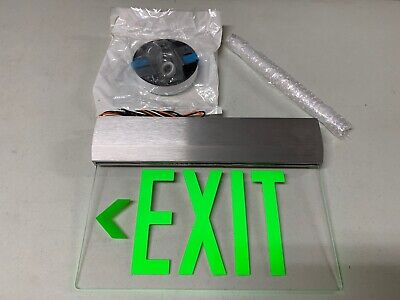 Isolite Elite Series Elt-em-g Die Cast Aluminum Led Edge-lit Exit Sign Green