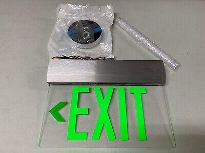 Isolite Elite Series Elt-em-g Die Cast Aluminum Led Edge-lit Exit Sign Green