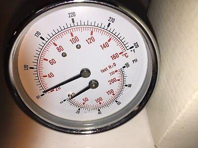 Ful050-2-30-000201 Pressuretemperature Combination Gauge 0-100psi 70-320f