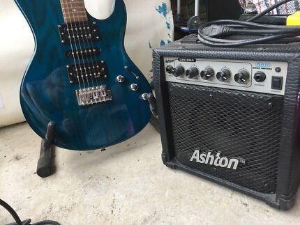 Ashton Electric Guitar + Ashton GA10 Amplifier