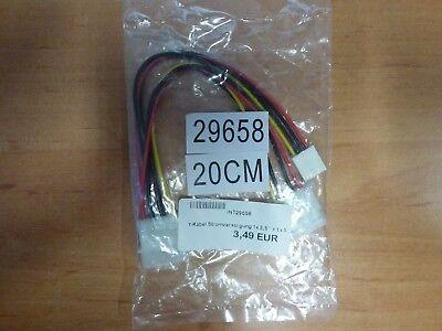 Stromversorgung Y-kabel (Y-Kabel PC Stromversorgung intern 1x5,25