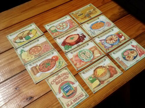 Vintage H J Heinz Company 12 Recipe Cards Cooking w/Beans FULL SET