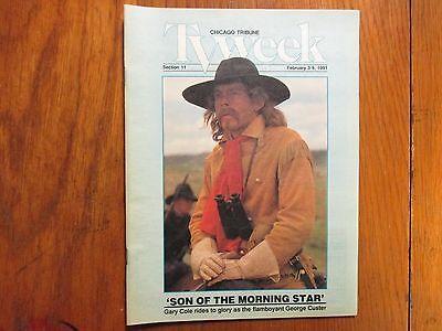 Feb  3  1991 Chicago Tribune Tv Week Gary Cole Rosanna Arquette George A  Custer