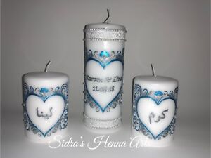 Personalised Henna Candles Ic Wedding Eid Birthday