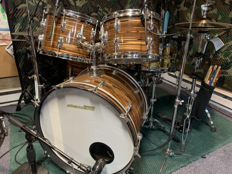 Vintage Ludwig Standard Drum Kit Shell Pack Bronze Strata