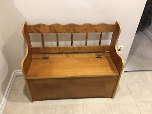 Hallway bench- Solid wood with storage 37/15""