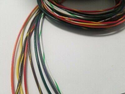 20 Awg Gauge Stranded Hook Up Wire Kit 5 Ft Ea 8 Color W Stripe Ul1007 300 Volt