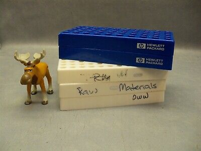 Vial Rack Hewlett Packard Blue 5x10 White 8x12 Lot Of 5