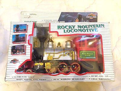 Rocky Mountain Locomotive Electronic Train Toy Set Boy Kids Children Railroad