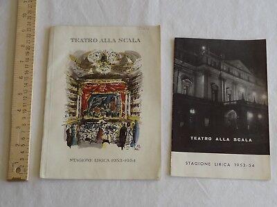 Teatro alla Scala Milan Opera 1953-1954 Stagione Lirica Program Nestle KLM Ads