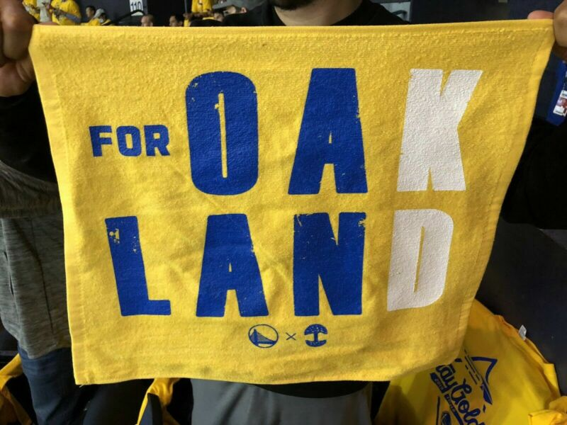 Warriors Rally Towel Oakland KD 2019 NBA FINALS Game 6 Oracle Arena Kevin Durant