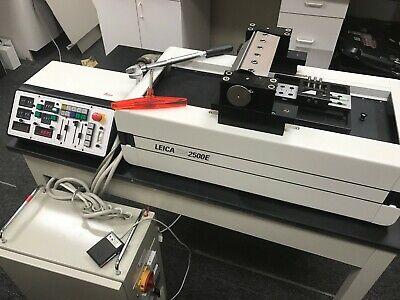 Refurbished Leica Sm2500e Heavy Duty Sledge Sliding Microtome