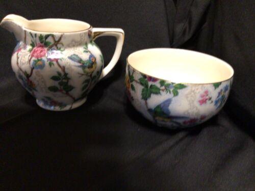Royal Tudor Ware BARKER BROS LTD. England  Creamer + Sugar Bowl