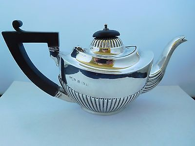 LOVELY ANTIQUE ENGLISH SOLID STERLING SILVER BACHELORS TEAPOT - 1912