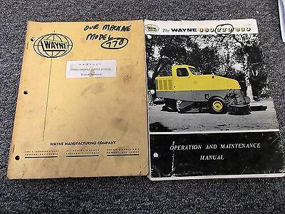 Wayne 770 Street Sweeper Owner Service Repair Manual Student Handbook