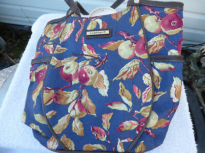 LONGABERGER HANDBAG TOTE EARLY HARVEST PRINT- NEW- FREE SHIPPING