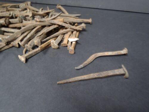 Vintage Antique Square Cut Nails Restoration Salvage ~ Straight Bent Rusty