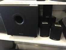 PIONEER SUBWOOFER AND 5 SMALL SPEAKERS #17655