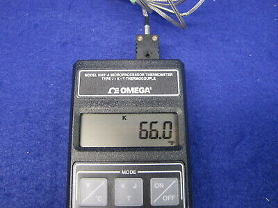 Omega Handheld Dual Input Thermocouple Digital Thermometer J K Types Hh22a