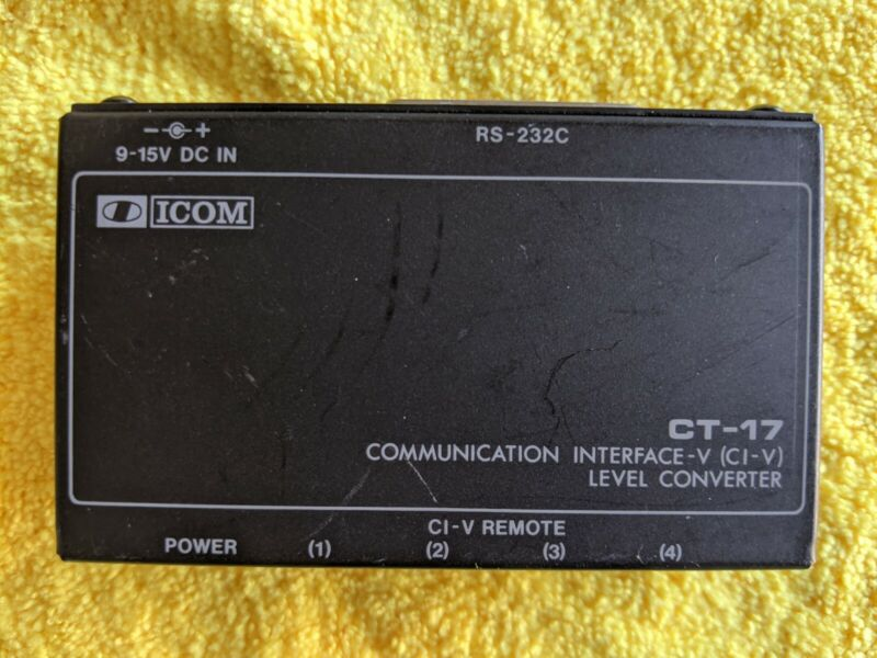 Icom CT17 Communication Interface - V (CI-V) Level Converter - Tested Working